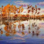 Autumn in the water. 89 x 67cm. Oil on canvas, 2014 Moscow.Painting is available in Moscow.   SOLD. Author can repeat painting.