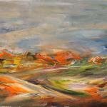Hills. 30h50sm. Oil on canvas. Tula region 2014.Painting is available in Moscow.
