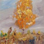 Birch. 30 x 50 cm. Oil on canvas. Tula region. 2014. SOLD. Author can repeat painting.