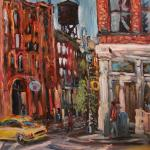 12 Blue dog and Broome Street. Oil on canvas. 2013 New York. 36'x27'. SOLD. Author can repeat painting.