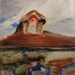 Roof 33x35 cm. 2012. Oil on canvas.  Painting available at Ward-Nasse Gallery NYC (www.ward-nassegallery.net)