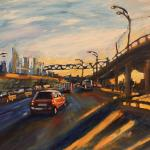 Sun on the Third Ring Road. 78h130сm 2014 Moscow. Acrylic.  SOLD. Author can repeat painting.