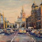 Smolensky Boulevard. 69h92sm 2014 Moscow. Oil on canvas.SOLD. Author can repeat painting.