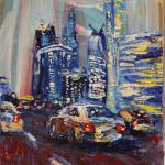Moscow City. 20x30cm 2014 Moscow. Acrylic on canvas.Painting is available in Moscow.