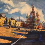 Shadows of the Kremlin. 69h91sm 2014 Moscow. Oil on canvas. Painting is available in Moscow.