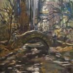 Spring in Central Park.Oil on canvas. 2013 New York. 40x27 in Painting available at Ward-Nasse Gallery NYC (www.ward-nassegallery.net)