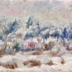 Winter forest. Oil on canvas. Moscow 2014 37h49 cm. Painting is available in Moscow.